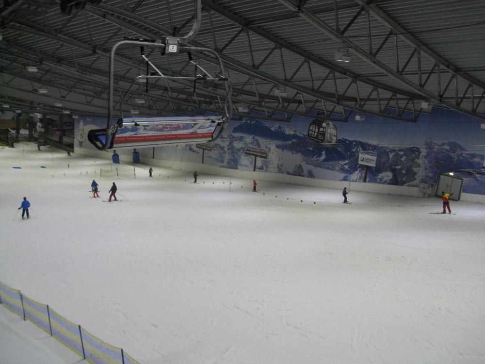 Bei -4 Grad in der Skihalle Neuss