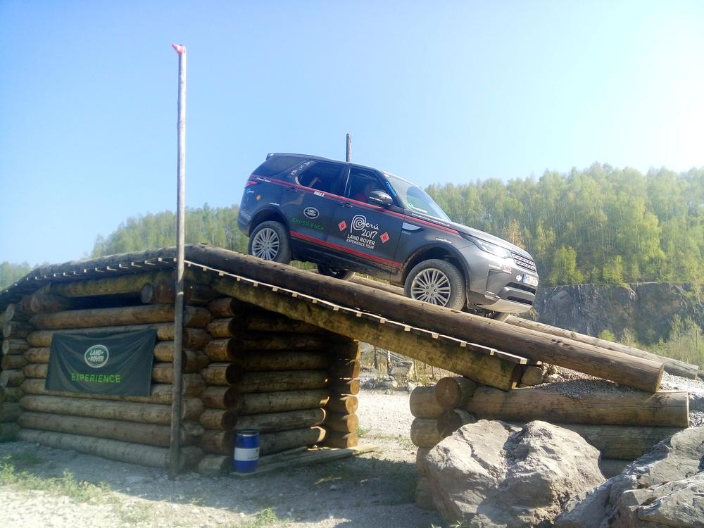 Eine der vielen Hürden im Land Rover Experience Center