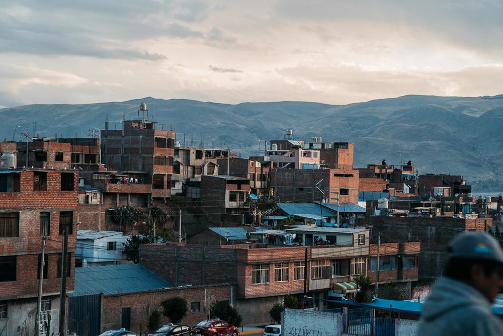 Huancayo in Abendstimmung.