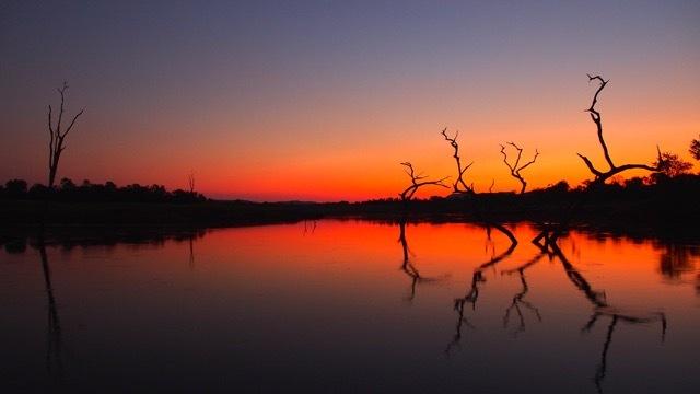 Sonnenuntergang Lake Kariba/Simbabwe, Foto Sabine Lueder